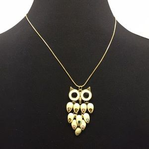 Gold Plated Owl Necklace